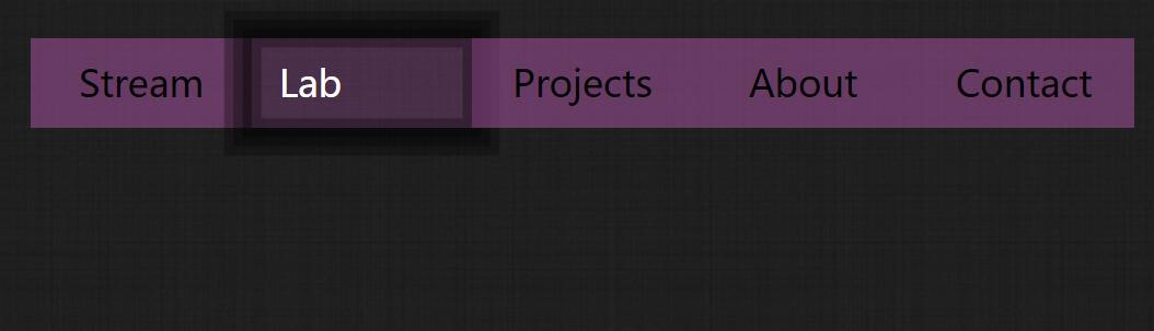 html5css3鼠标悬浮背景模糊导航栏菜单样式代码