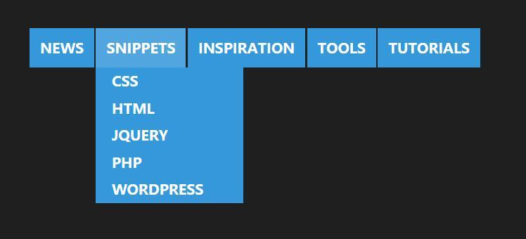 html5css3二级下拉菜单分类导航条网页样式素材代码
