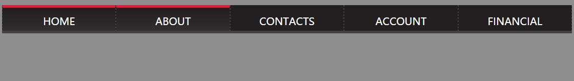 html5css3网站导航条菜单栏宽度自适应网页代码