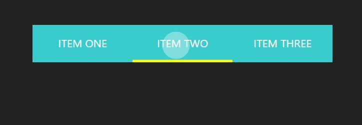 html5css3鼠标点击导航菜单背景波浪动画边框移动特效网页代