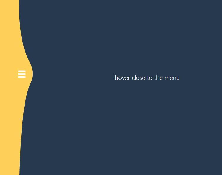 SVG Gooey鼠标悬停靠近菜单磁性动画特效网页代码