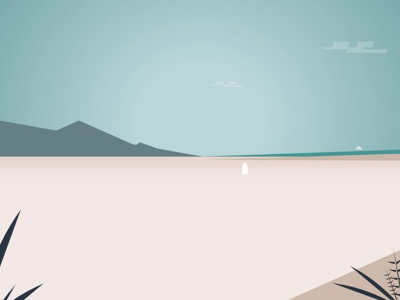 html5css3绘制海滩风光特效网页素材代码