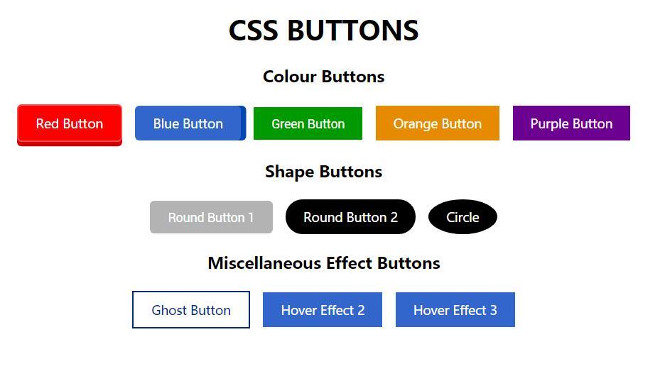 div css button按钮圆角阴影样式网页代码