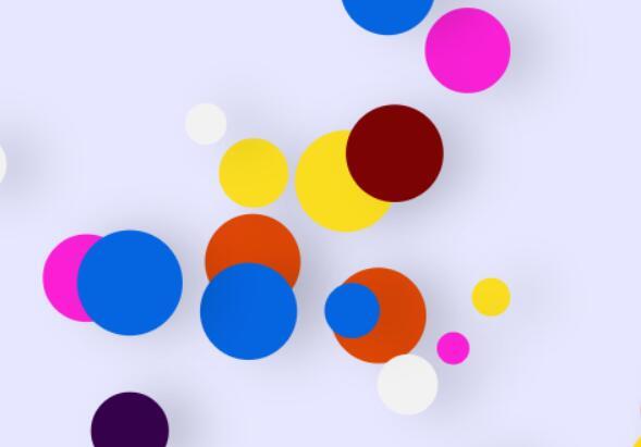 html5 canvas画布色彩圆形移动特效JavaScript代码下载