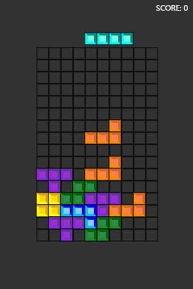 html5css3 canvas小游戏网页俄罗斯方块JavaScript代码