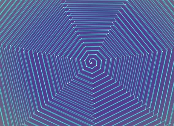 html5css3 canvas画布绘制蜘蛛网图形颜色闪烁特效js代码