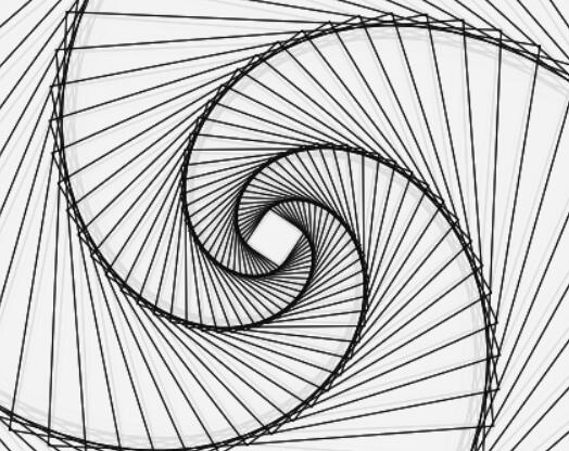 canvas线条弹性旋转变形特效站长素材JavaScript代码