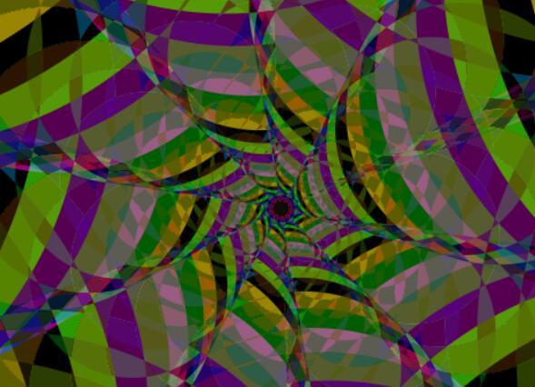 html5css3 canvas画布彩色图层动态旋转js代码