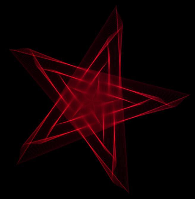 canvas画布3d立体五角星摇摆颜色渐变特效动画js代码