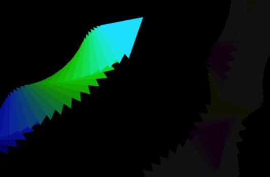 彩虹齿牙图形移动留痕迹特效html5css3 canvas画布代码