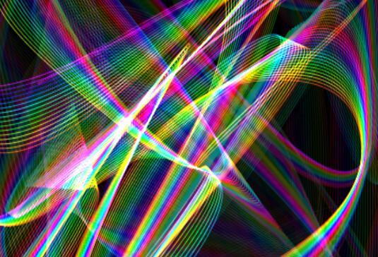 canvas画布彩虹图层形状随机变化特效JavaScript代码