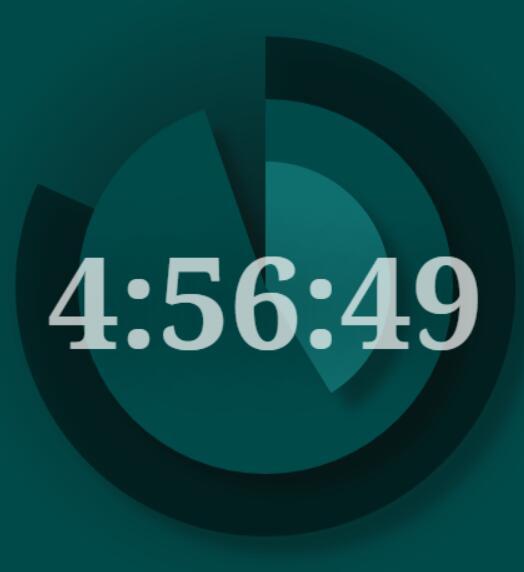 html5css3 canvas画布环形旋转时钟秒表动画特效JavaScript代码