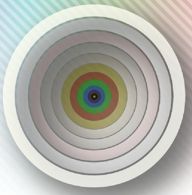 canvas画布绘制环形重叠摇摆震动特效JavaScript代码
