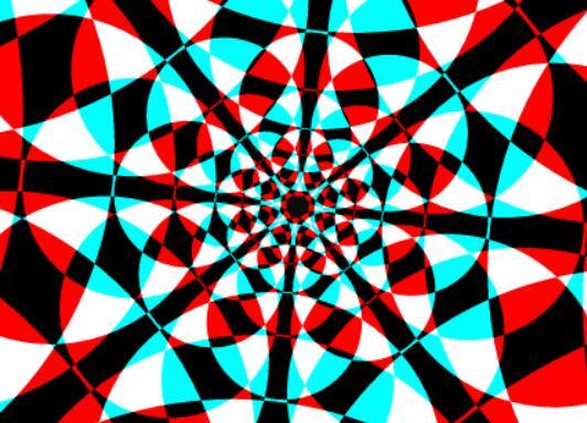 canvas画布彩色圆形图层特效JavaScript代码