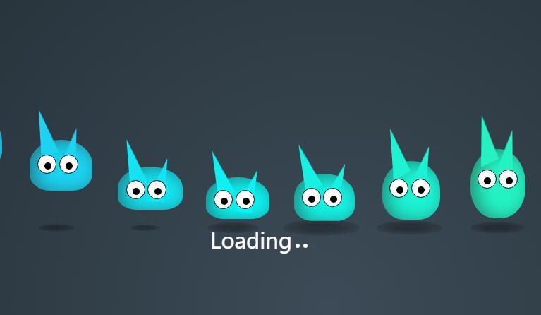 div css制作卡通兔子摇摆动画网页loading加载特效代码