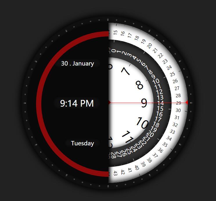 div css模仿指南针螺旋盘刻度效果时钟秒表jQuery插件代码