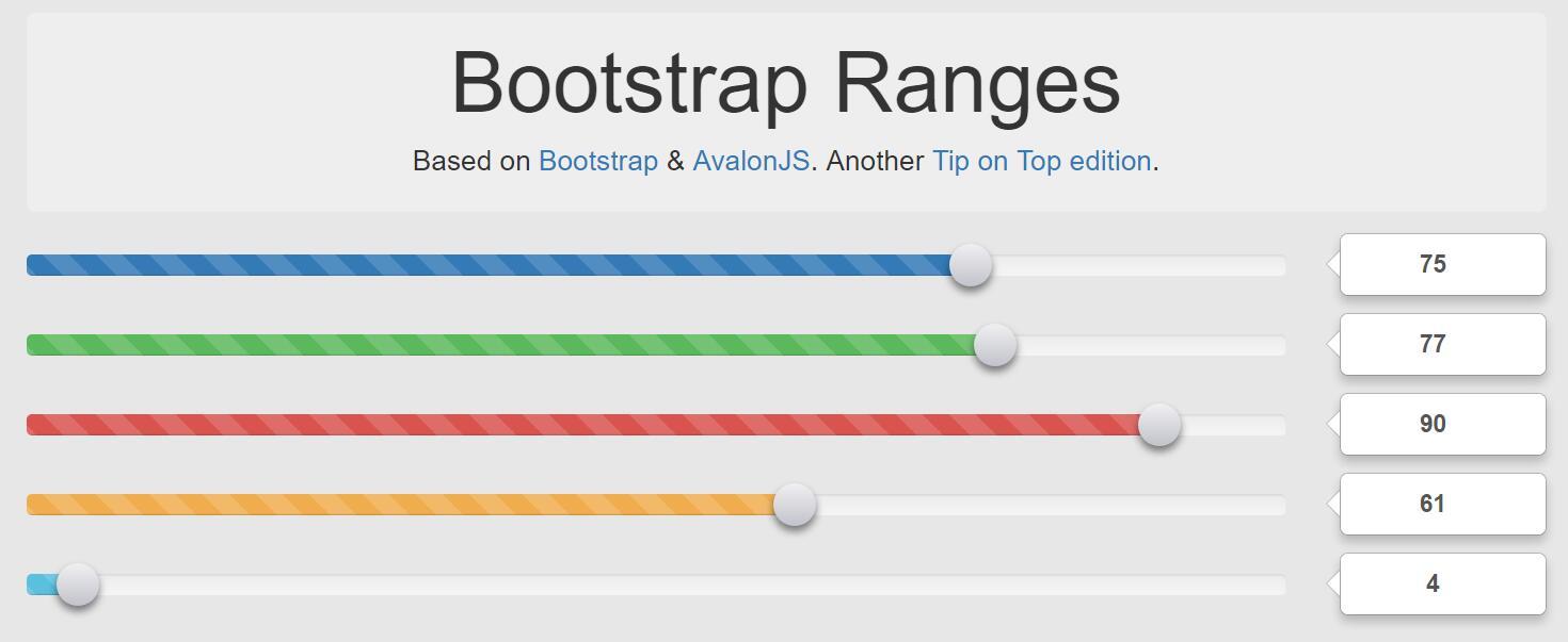 Bootstrap Ranges数字范围拖拽选择特效网页代码