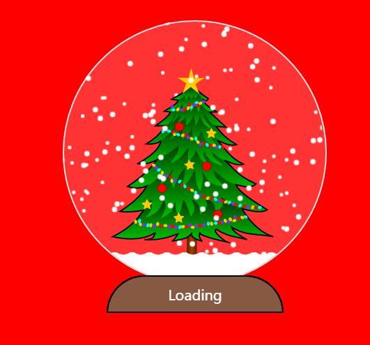 html5css3网页模板canvas画布圣诞节雪花飘飘特效js代码