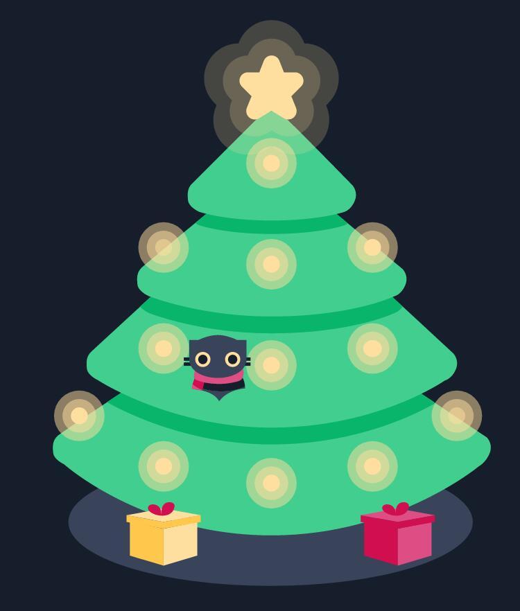 svg圣诞树图形特效html5模板网页素材代码