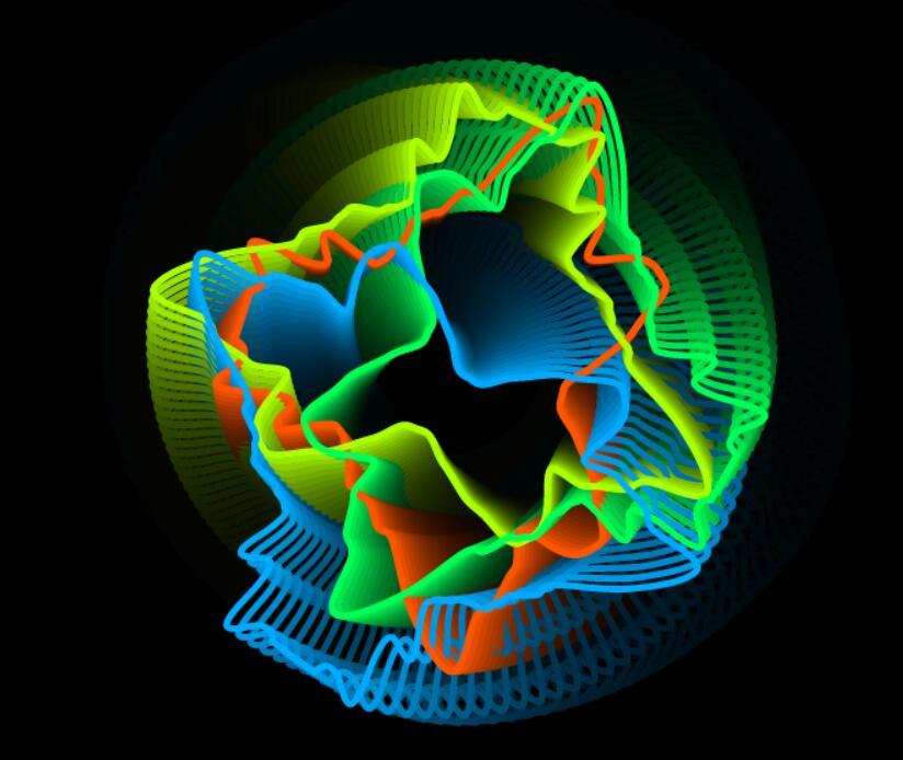 html5css3 canvas画布图层彩色旋转特效JavaScript代码