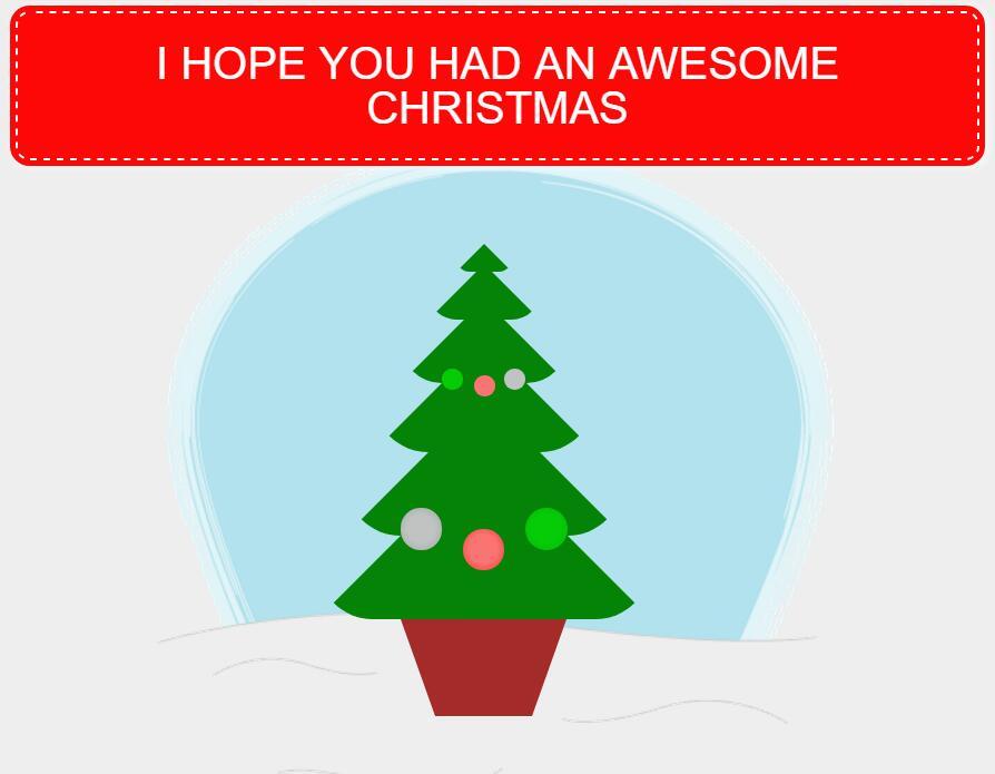 CSS3圣诞树动画特效网页素材模板代码下载