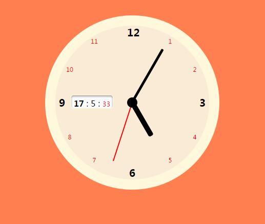 html5css3圆盘时钟秒表插件jQuery代码