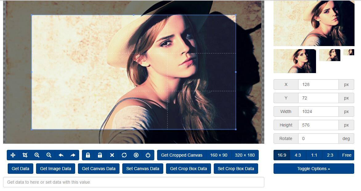html5图片裁剪插件jQuery选择器代码