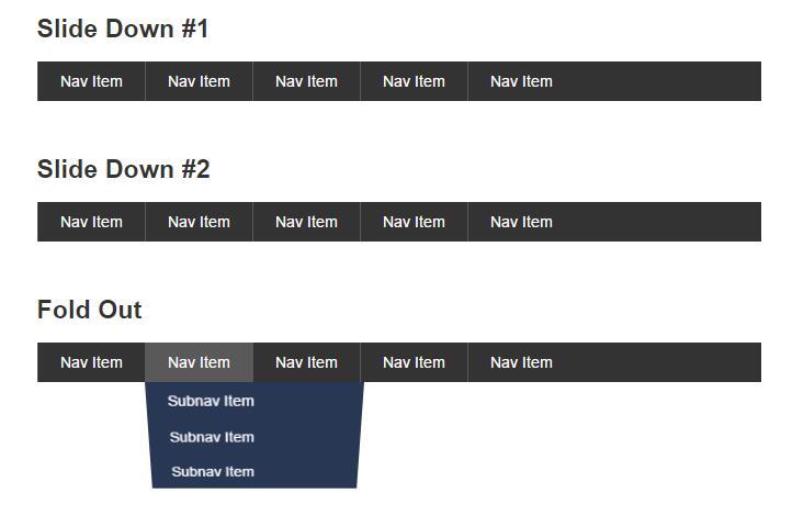 纯css3下拉菜单导航栏网页样式代码