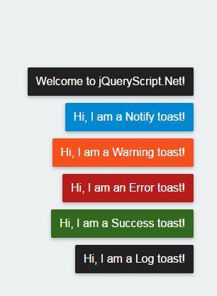 刷新网页时右下角滑动弹出信息栏提示框插件jQuery 选择器