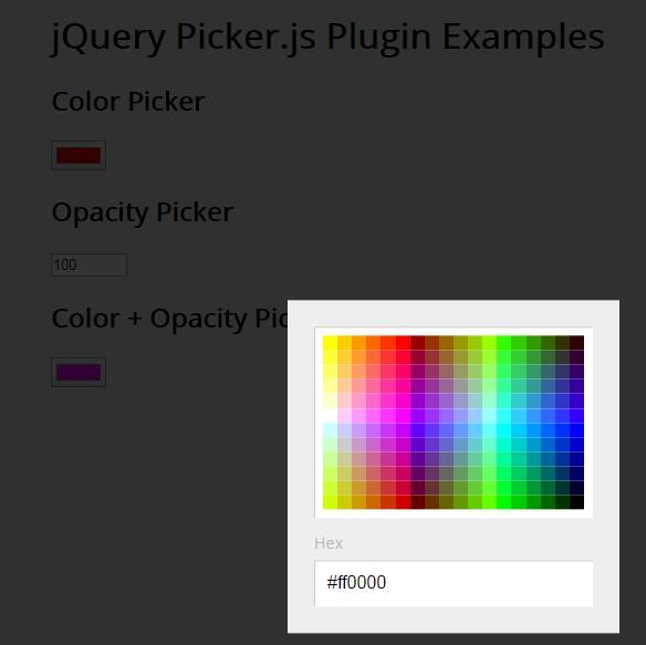 网页自定义取色插件jQuery选择器代码