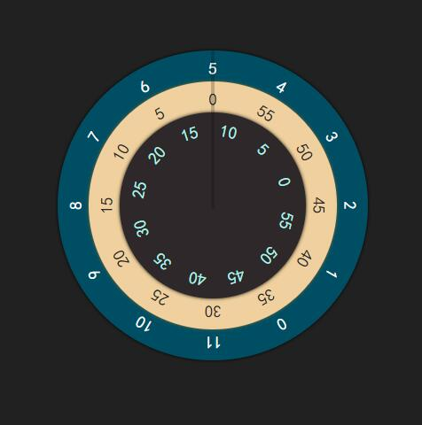 网页圆盘时分秒时钟插件jQuery选择器代码