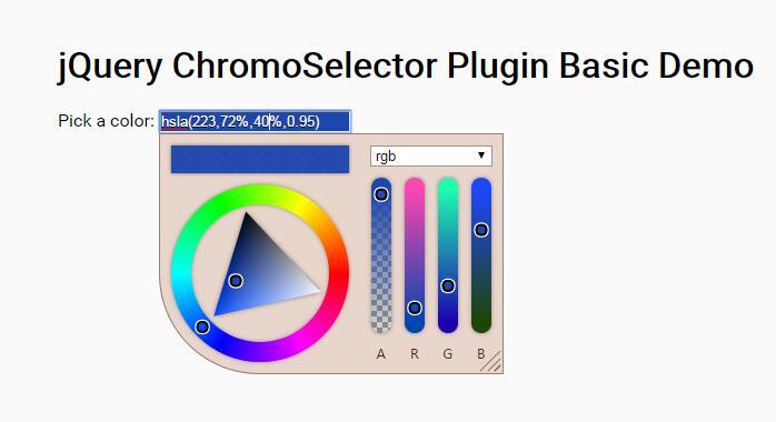 html5css3 canvas颜色选择器插件JavaScript代码