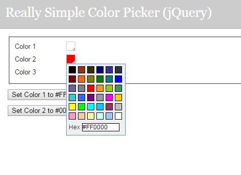 网页颜色选择器插件素材代码