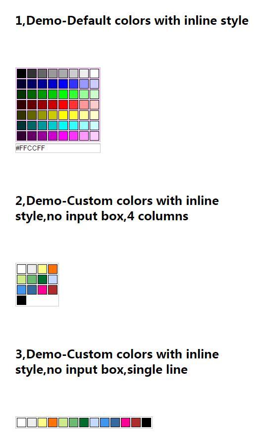 form表单input标签自定义颜色取色器插件jQuery代码