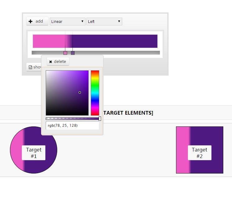 仿ps作图软件颜色调色板插件jQuery代码