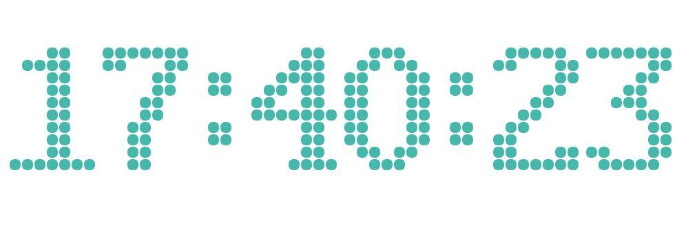html5 canvas颗粒组合时间秒表特效插件代码