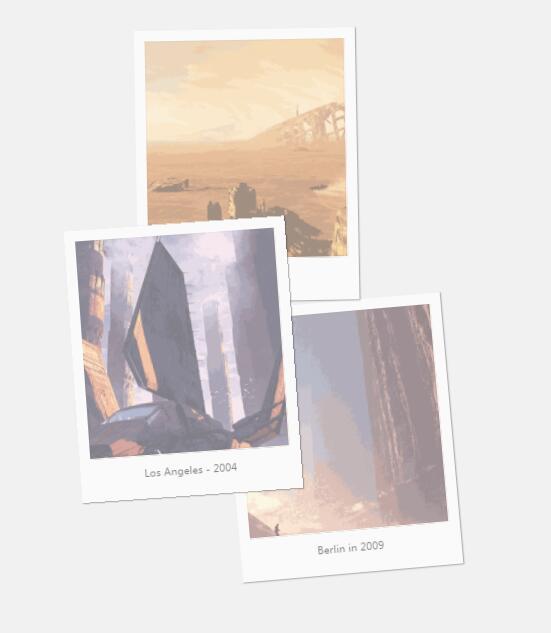css3图片相册鼠标悬浮过度放大特效网页素材代码