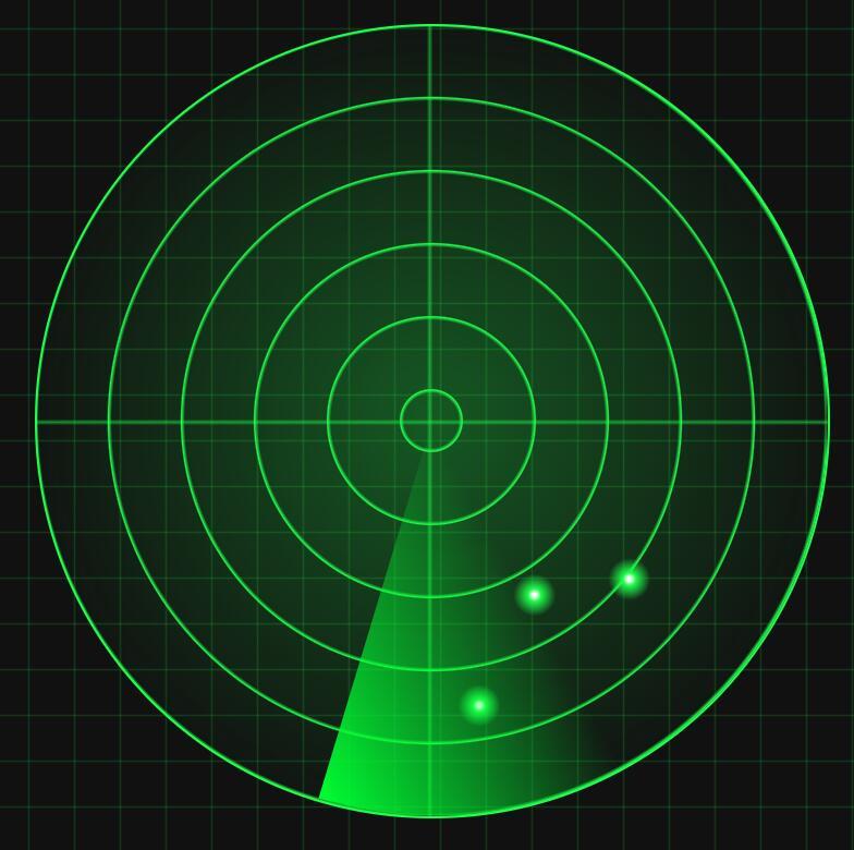 css3样式代码模仿微信雷达加好友扫描动画特效