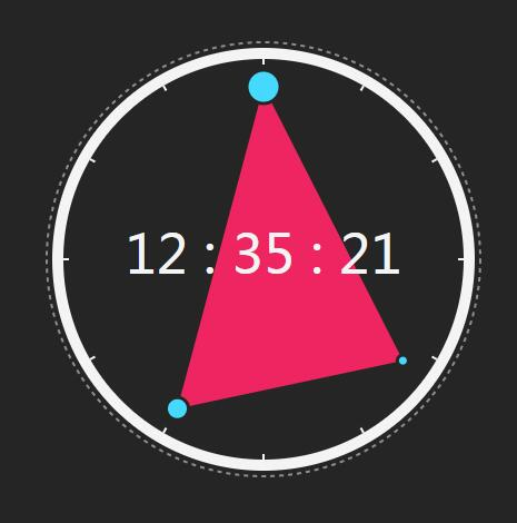 svg圆盘变形时钟特效插件jQuery代码