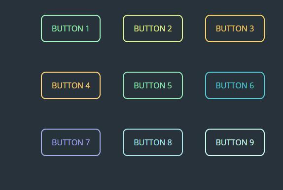 鼠标滑过彩色button按钮css3动画样式