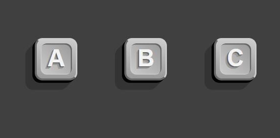 button按钮3D阴影特效css3样式站长素材