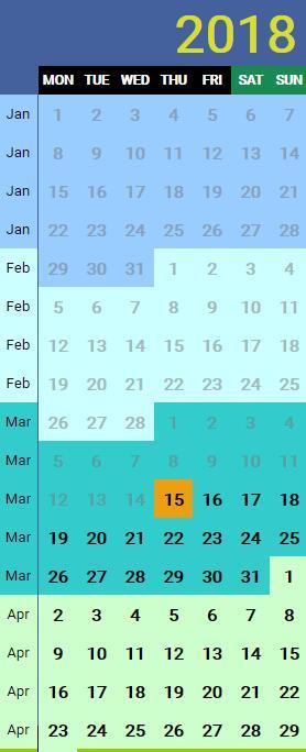2018年网页时间日历列表插件JavaScript代码