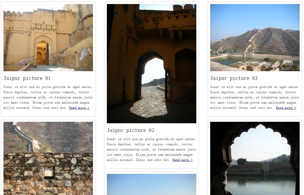 网页图片相册瀑布流排版布局插件jQuery代码