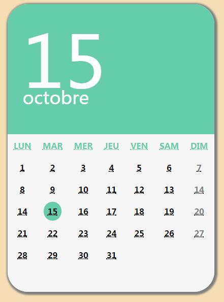 简单blog博客网站日历模板div css样式