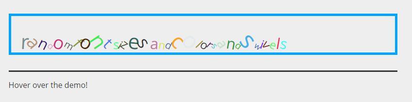 鼠标hover悬浮于文字时字体大小颜色变化特效jQuery代码