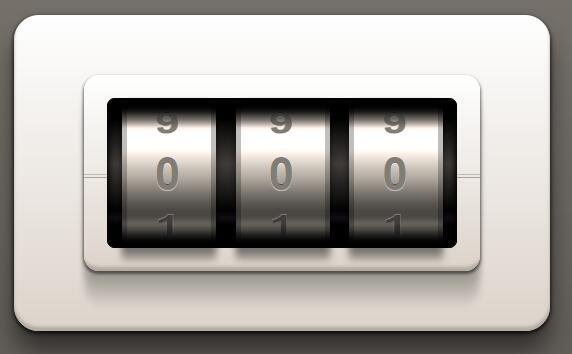html5css3模仿皮箱密码锁动画特效3d阴影样式代码