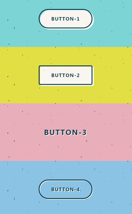 网页复古彩色风格css3圆角button按钮样式