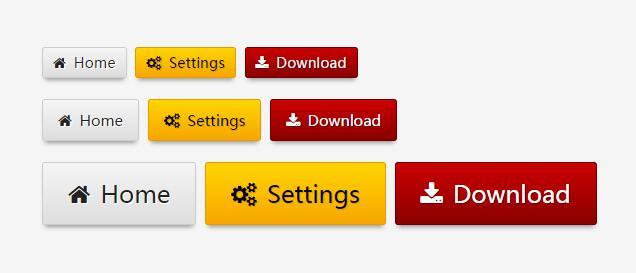 带图标圆角阴影button按钮素材css3样式
