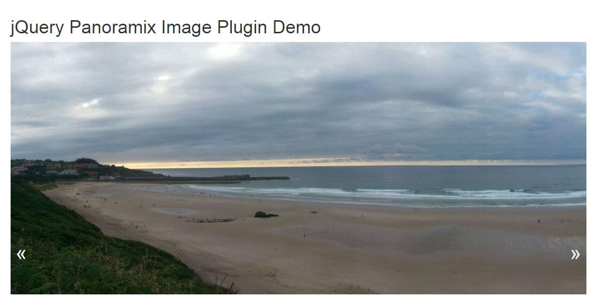 网页大图片左右拖动预览panoramix插件jQuery选择器代码