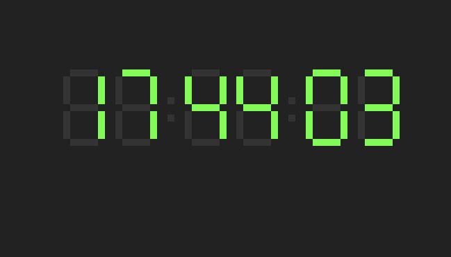 div css数字时钟选择器插件jQuery代码